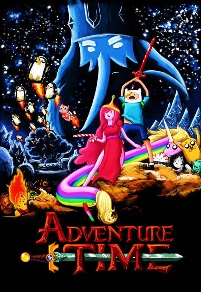 10970 Adventure Time Anime Cartoon Art Wall Print POSTER AU