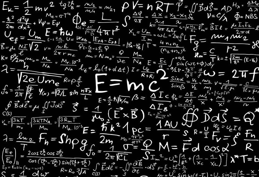 11028 Physical Equations Science Education Art Wall Print POSTER US