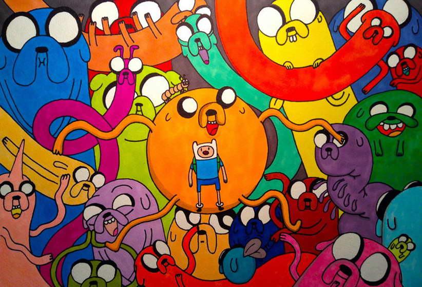 11739 Adventure Time Cartoon Anime Art Finn Jake Wall Print POSTER CA