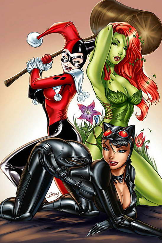 Harley quinn poison ivy catwoman