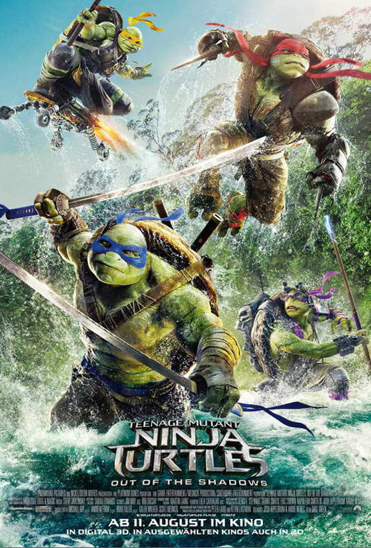 11866 Teenage Mutant Ninja Turtles 2 Out of the Shadows Movie TMNT POSTER CA