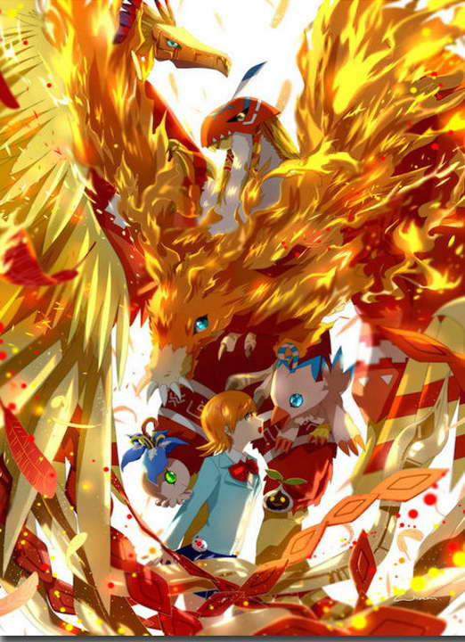 12156 Digimon Adventure Tri Anime Art Picture Piyomon Wall Print POSTER CA