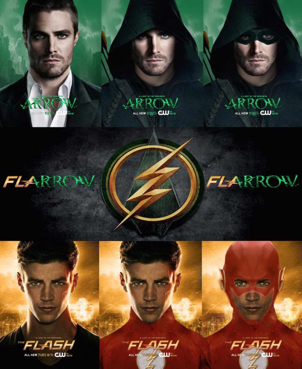 15614 The Flash And Arrow TV Show Wall Print POSTER AU