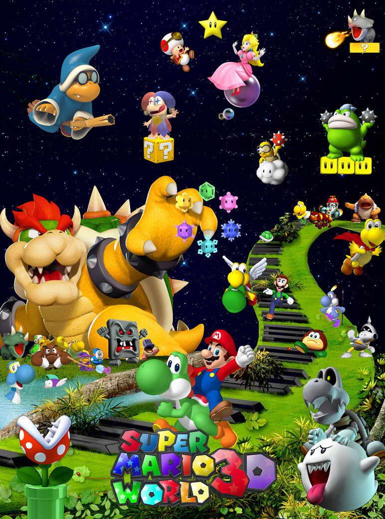 15661 Super Mario - Bros Game Baby Cute Wall Print POSTER AU
