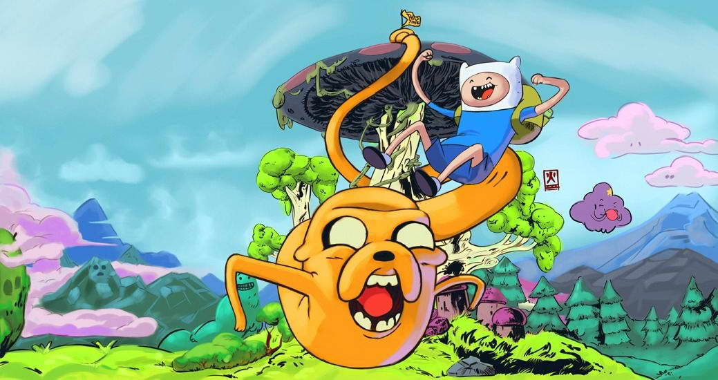 15892 Adventure Time - With Finn & Jake TV Series Wall Print POSTER AU