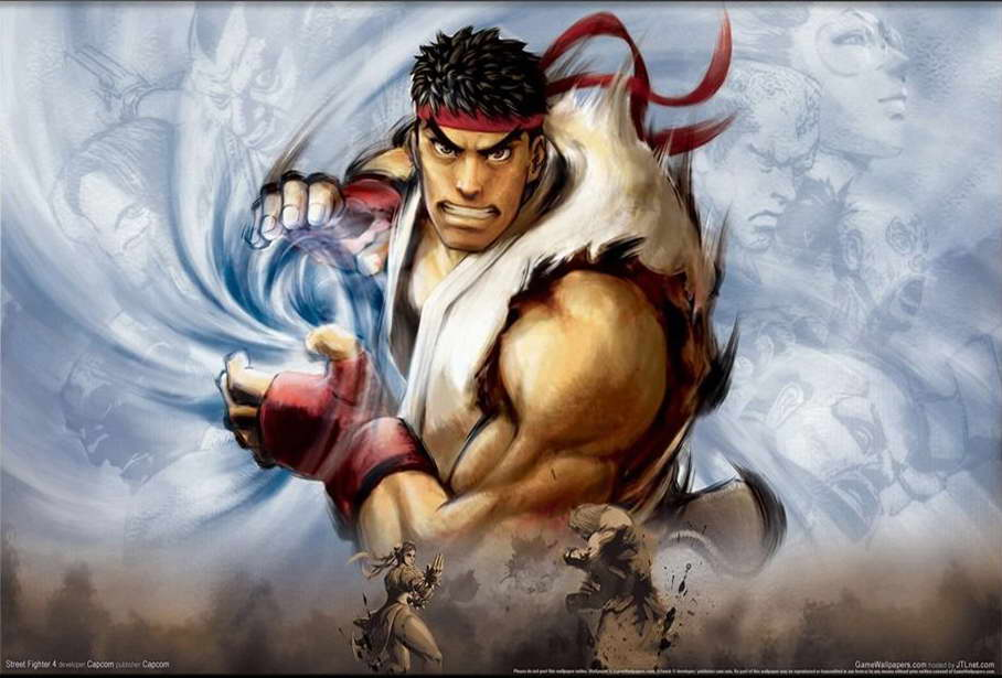 16845 Street fighter IV Game Wall Print POSTER AU