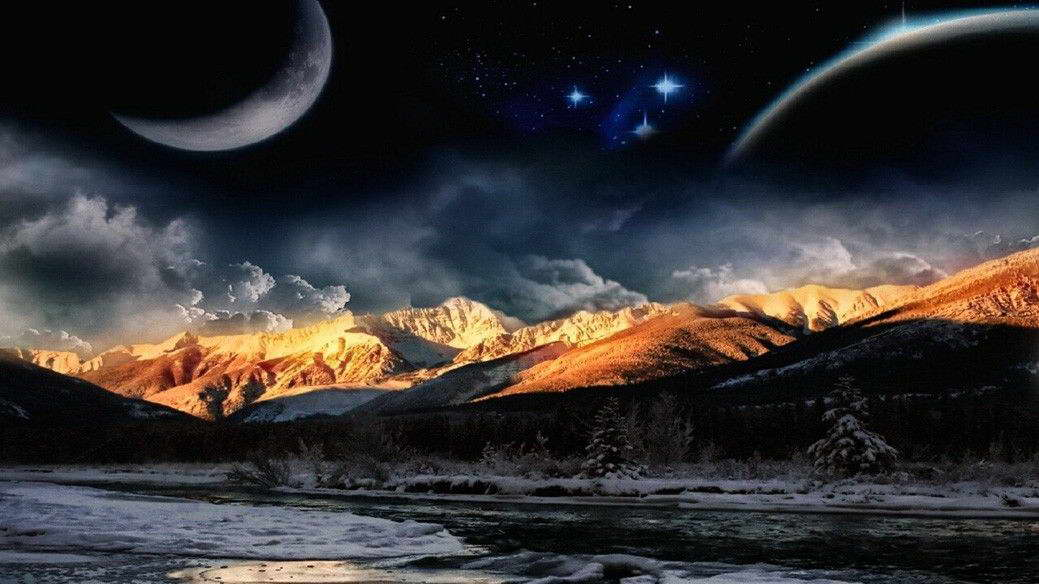 19454 Planet Galaxy Universe Sci Fi Space Wall Print POSTER AU