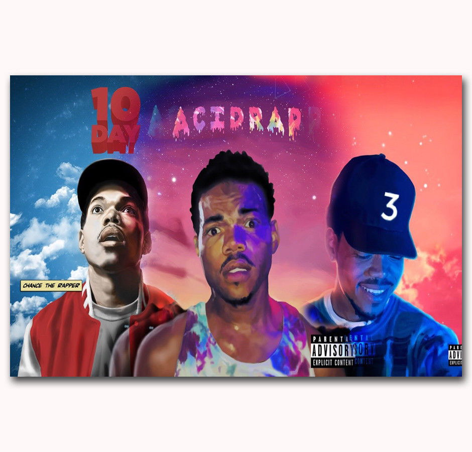 57901 57901 57901 Chance The Rapper Acid Rap Custom Painting FRAMED CANVAS PRINT Toile f0d607