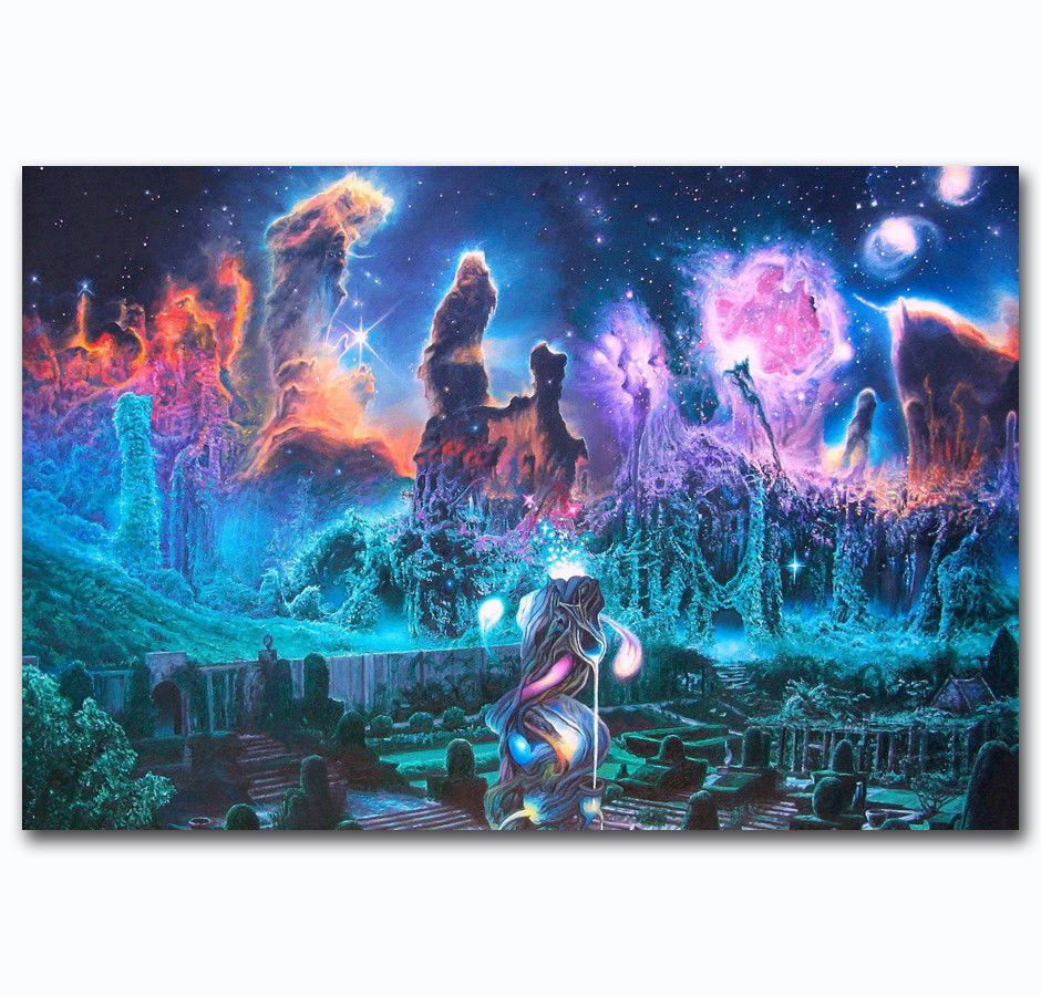 59128 Psychedelic Surreal Astral Visual Scenery Wall Print Poster AU