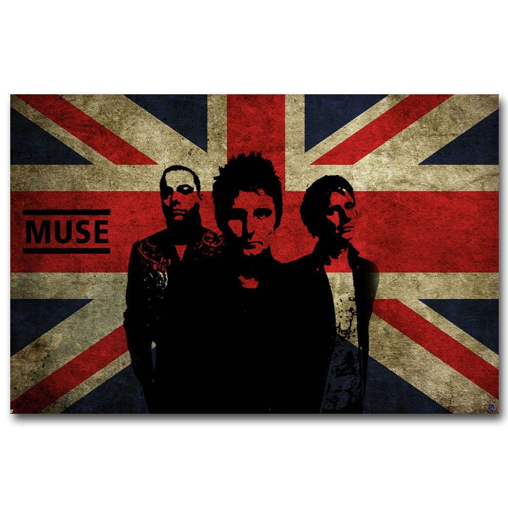 59279 MUSE Rock English Music Band Flag FRAMED CANVAS PRINT UK