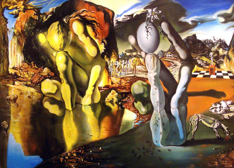62981 Salvador Dali The Face Of War FRAMED CANVAS PRINT AU | eBay