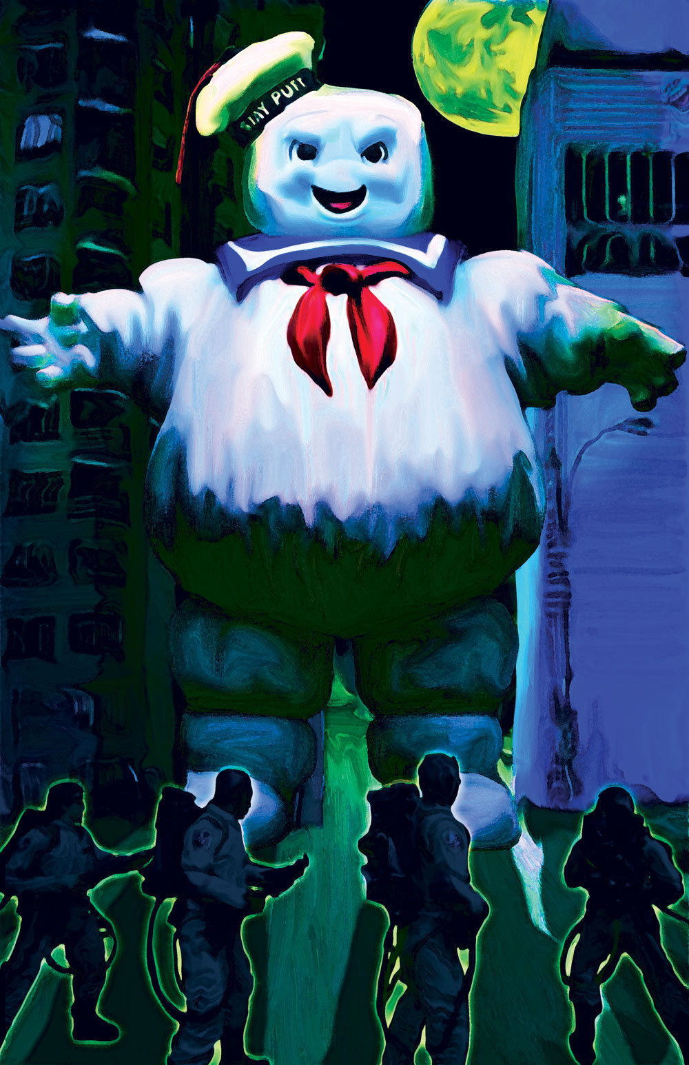 63041 Ghostbusters Stay Puff Rampage Wall Print Poster AU