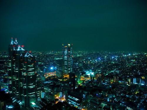 63515-Tokyo-City-Night-Lights-Japan-Cityscape-FRAMED-CANVAS-PRINT-AU