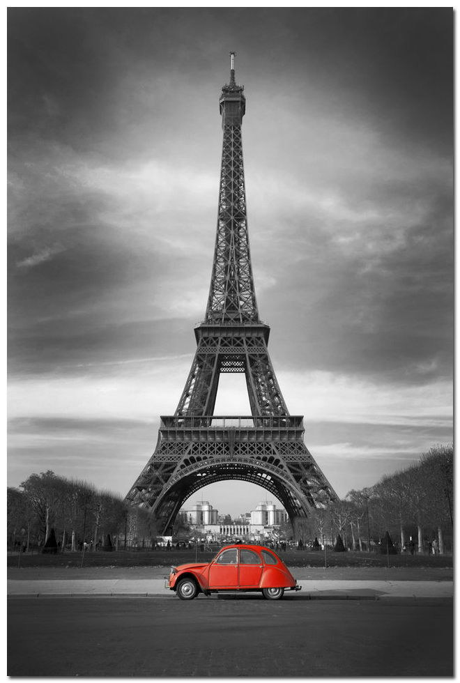 64238 Effie Tower Cityscape rot Car Wall Poster Print Affiche