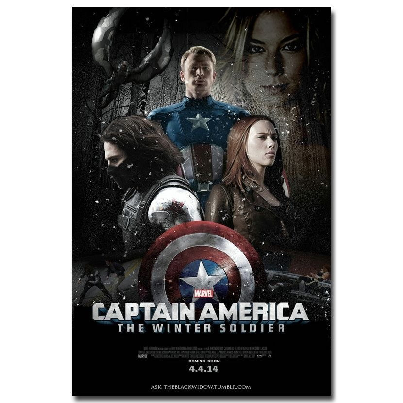64241 Captain America 2 Wall Poster Print Affiche