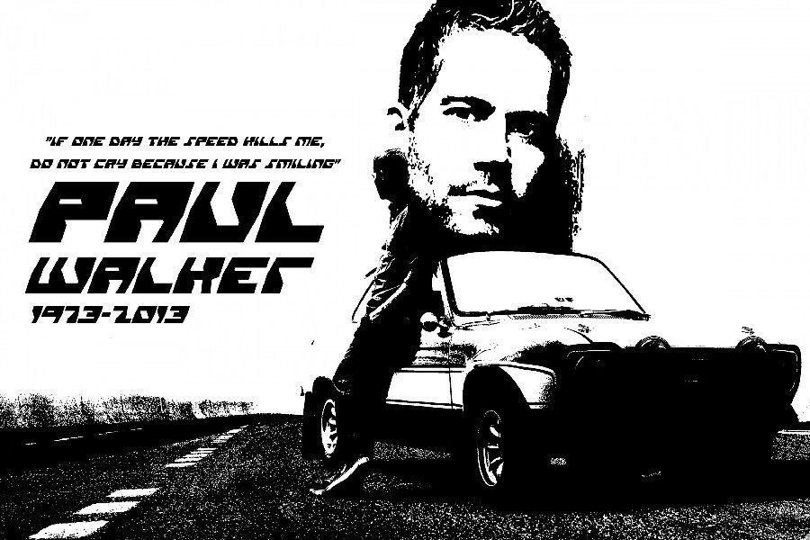 64959 Fast and Furious R.I.P.-Paul Walker Wall Print Poster AU