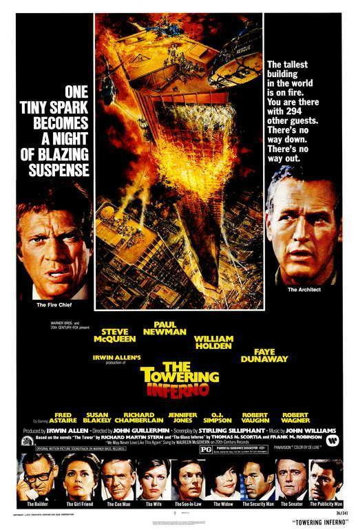 65755 The Towering Inferno Steve McQueen Paul man Wall Print Poster AU