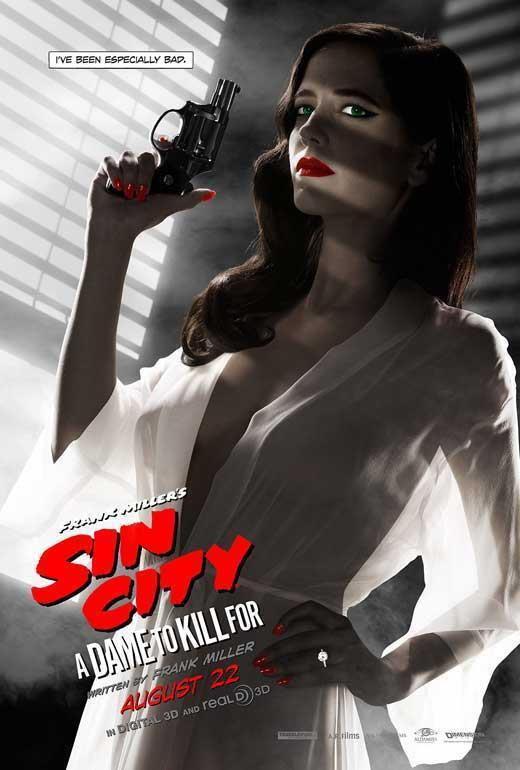 65768 Sin City  A Dame to Kill For Movie Eva Grün Wall Print Poster CA