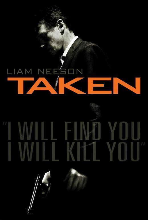 65835 Taken Movie Liam Neeson, Maggie Grace Wall Print Poster AU