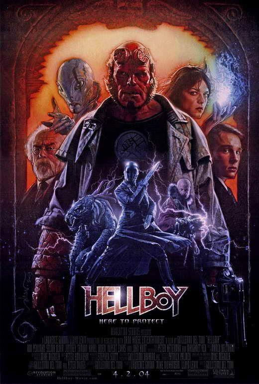 67377 Hellboy Ron Perlman, Doug Jones elma Blair Wall Print Poster AU