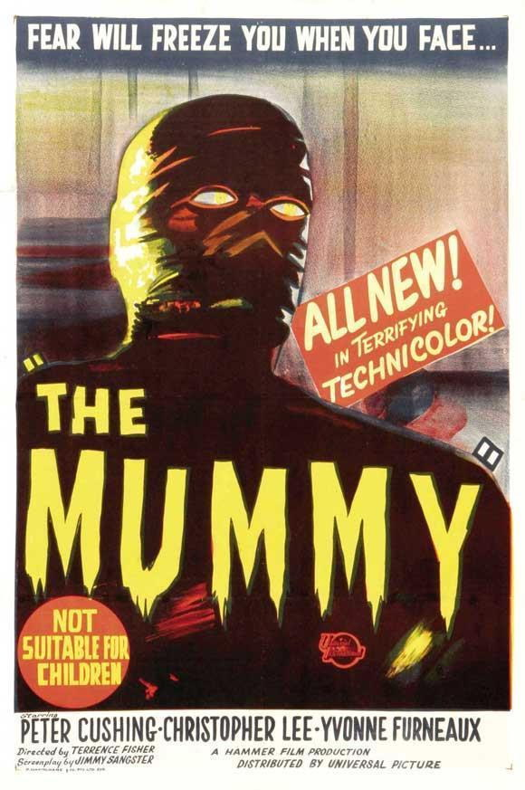 67838 The Mummy Movie Peter Cushing hristopher Lee Wall Print Poster CA