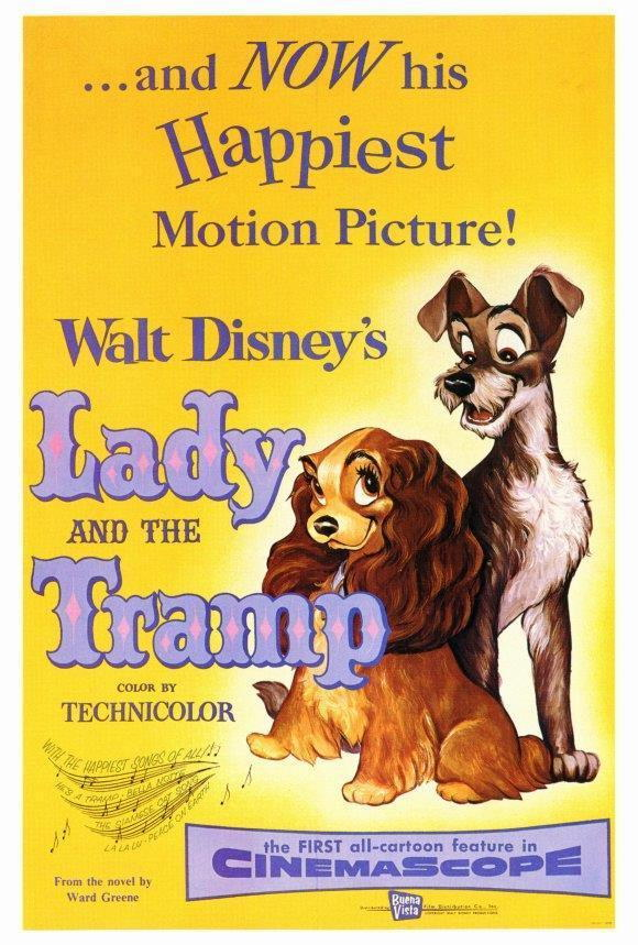 68008 Lady and the Tramp Barbara Luddy, Larry Roberts Wall Print Poster CA