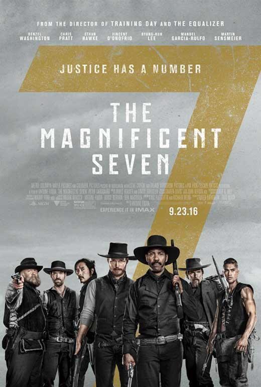 68018 The Magnificent Seven Movie Denzel Washington Wall Print Poster AU