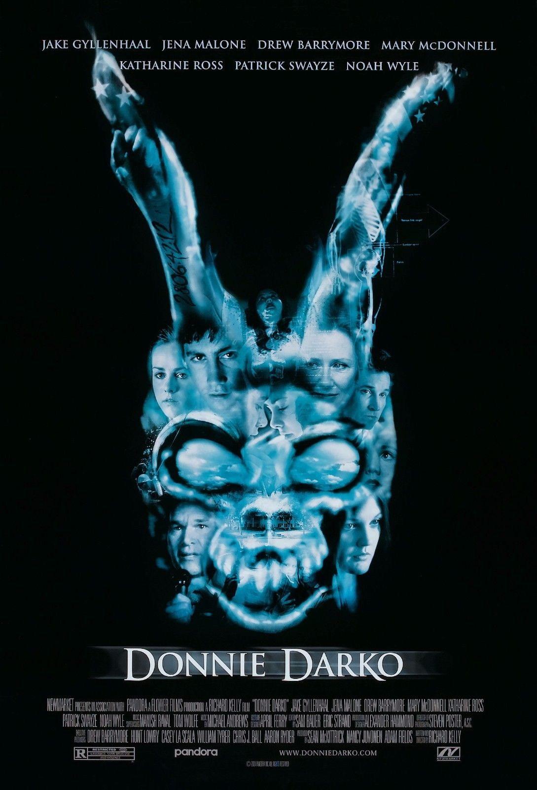 72232-DONNIE-DARKO-Movie-Frank-the-Bunny-Art-FRAMED-CANVAS-PRINT-Toile