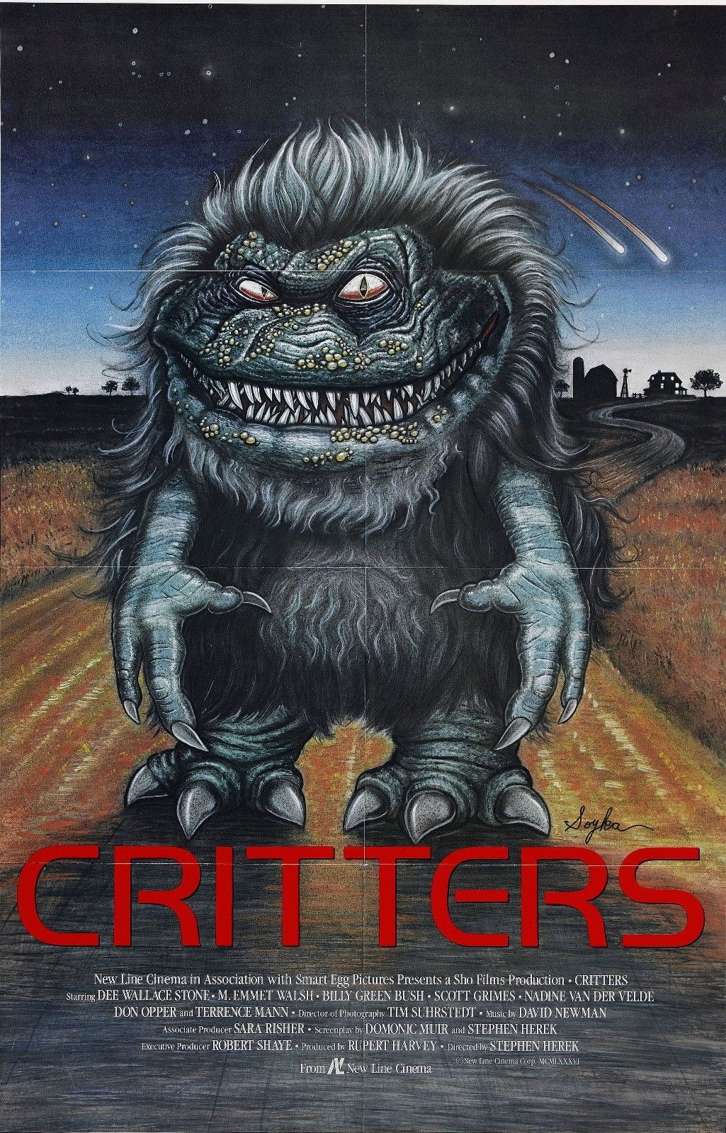 72342-CRITTERS-Movie-Horror-80-039-s-Sci-Fi-FRAMED-CANVAS-PRINT-Toile