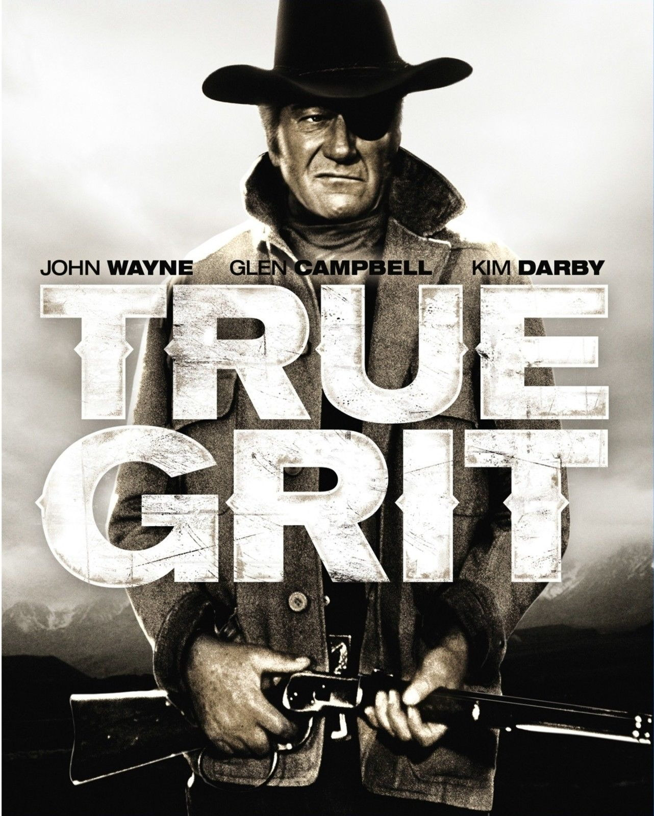 72348-TRUE-GRIT-Movie-RARE-Western-FRAMED-CANVAS-PRINT-Toile