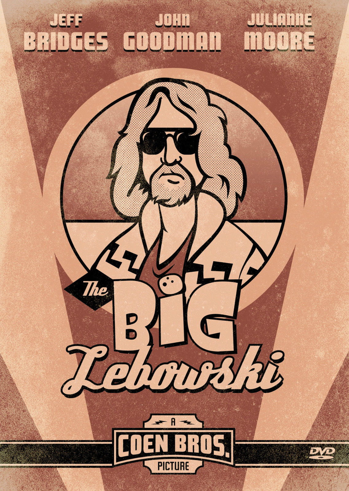 72365-THE-BIG-LEBOWSKI-Cohen-Brothers-Jeff-Bridges-FRAMED-CANVAS-PRINT-Toile