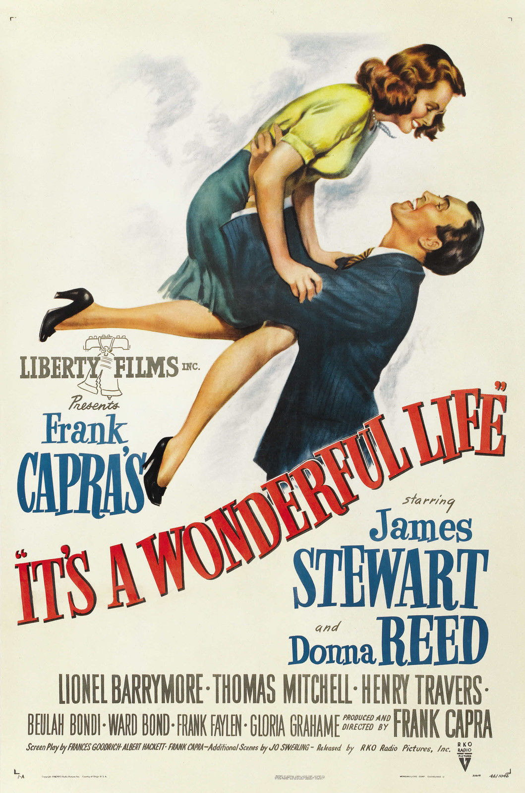 72687-IT-039-S-A-WONDERFUL-LIFE-1942-Jimmy-Stew-Christmas-FRAMED-CANVAS-PRINT-Toile