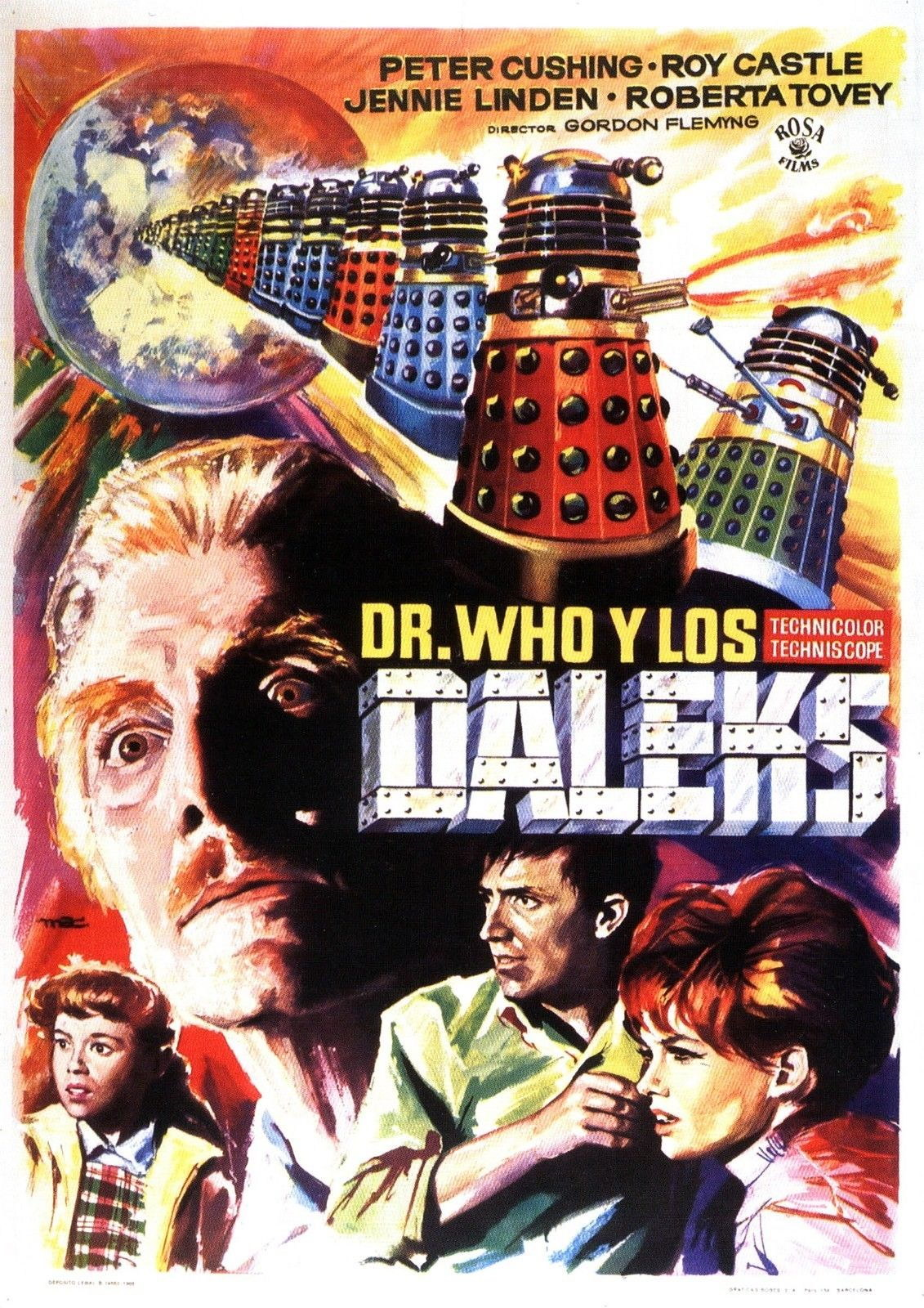 72840-DR-WHO-AND-THE-DALEKS-Movie-1965-FRAMED-CANVAS-PRINT-Toile