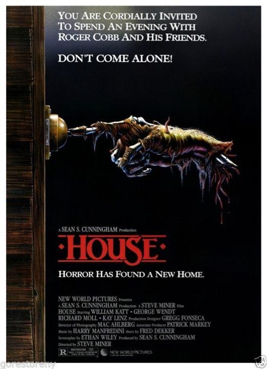 73007-HOUSE-Movie-Horror-Comedy-80-039-s-Sean-Cunningham-FRAMED-CANVAS-PRINT-Toile
