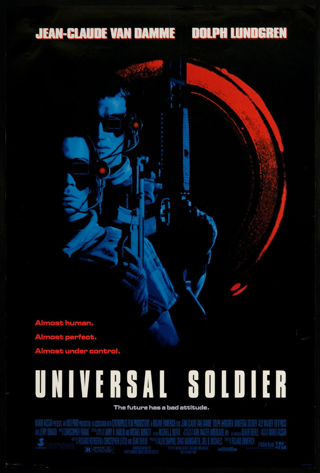 73052-UNIVERSAL-SOLDIER-Movie-Sci-Fi-Rare-FRAMED-CANVAS-PRINT-Toile