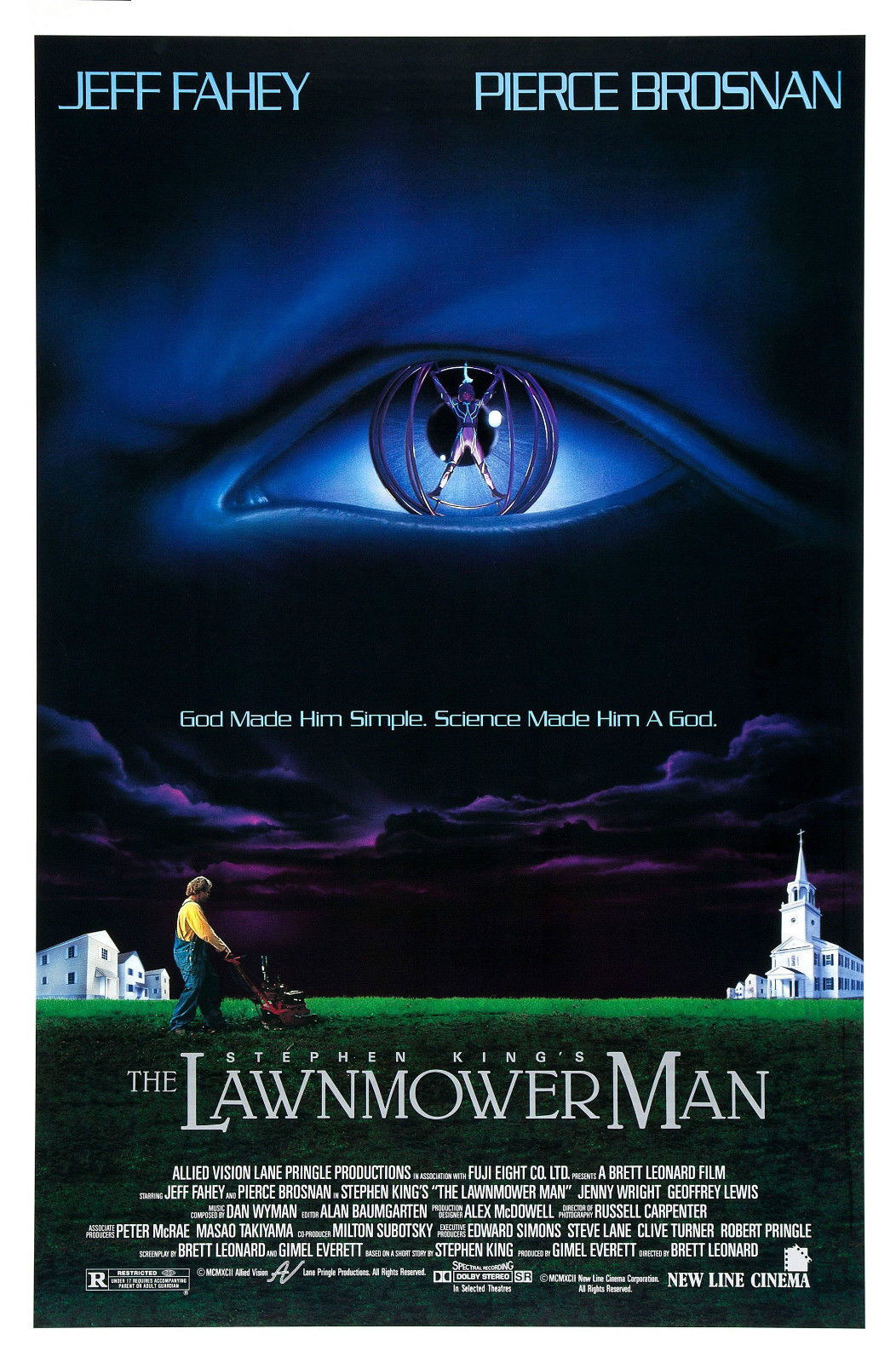 73458 LAWNMOWER MAN Movie Horror Sci-Fi Decor Decor Decor Wall Print Poster 44172a