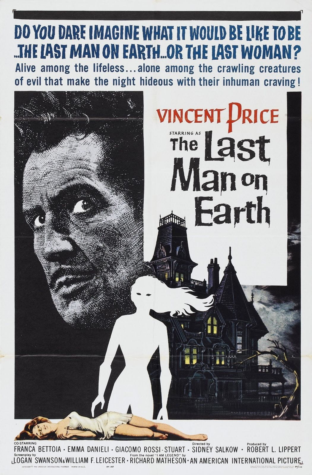 73499-The-Last-Man-on-Earth-1964-Thriller-Indie-FRAMED-CANVAS-PRINT-Toile