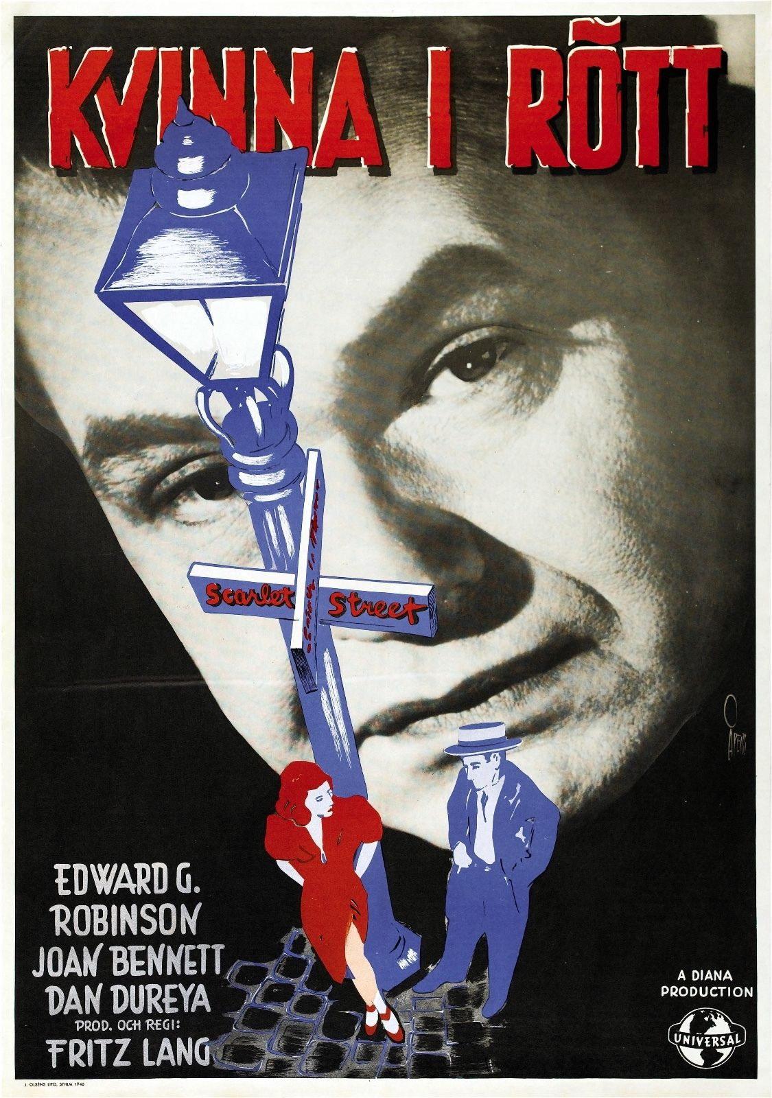73612-Scarlet-Street-Movie-1945-Drama-Thriller-FRAMED-CANVAS-PRINT-Toile