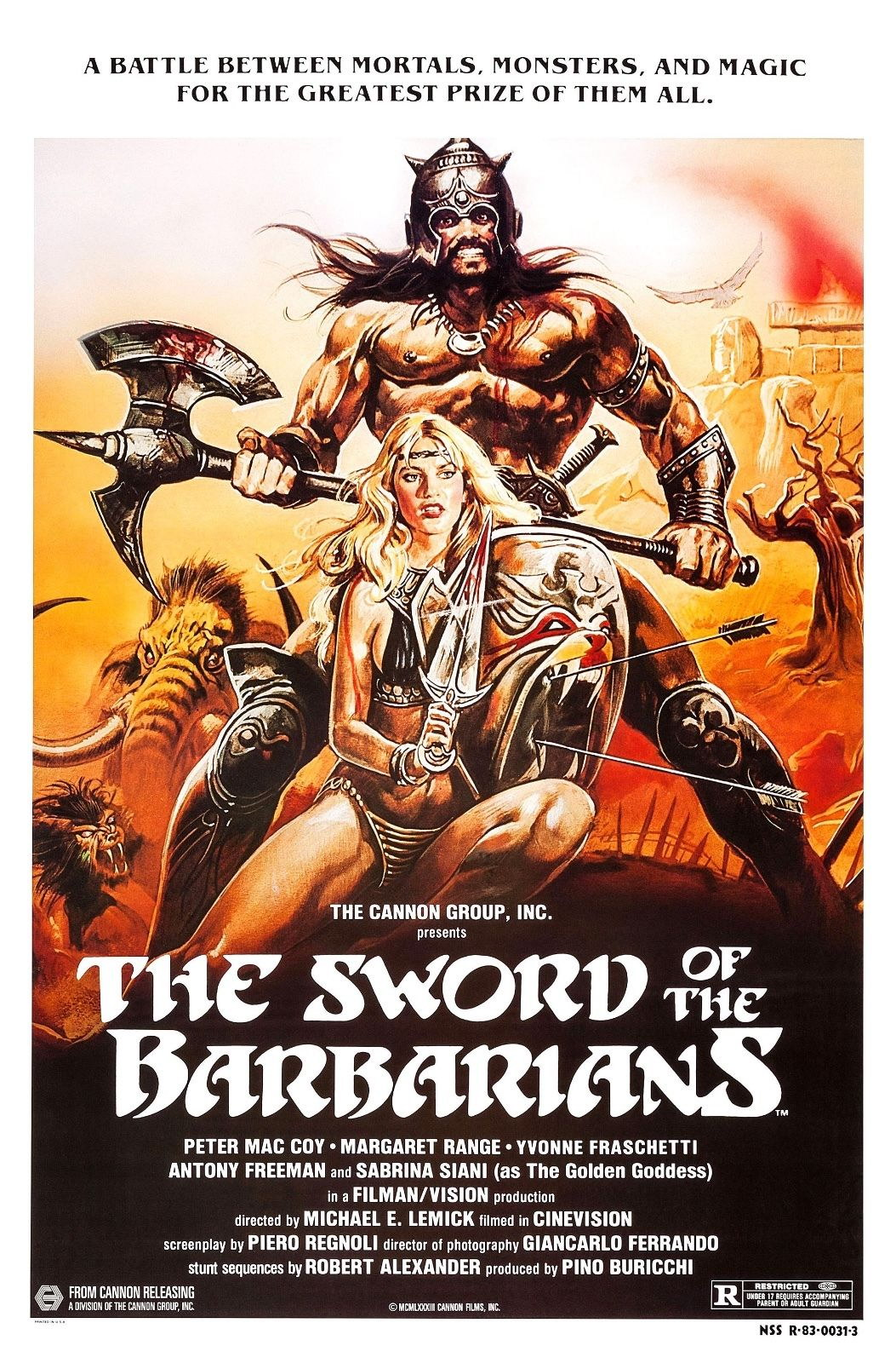 73631-The-Sword-of-the-Barbarians-Action-Adventure-FRAMED-CANVAS-PRINT-Toile