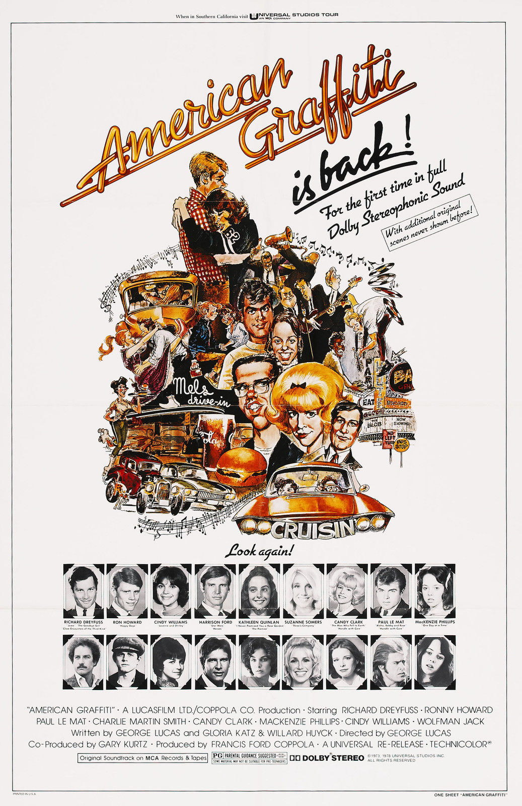 Image Is Loading 73837 American Graffiti Movie George Lucas Framed Canvas