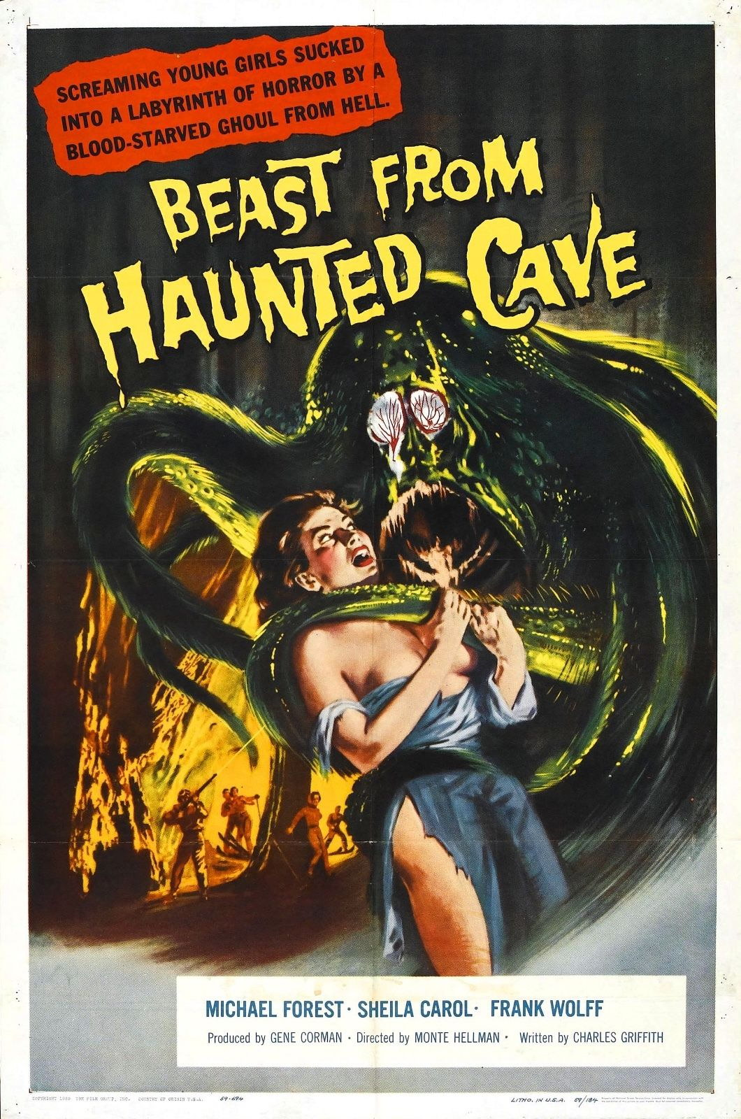 73967-Beast-from-Haunted-Cave-Movie-1959-Thriller-FRAMED-CANVAS-PRINT-Toile