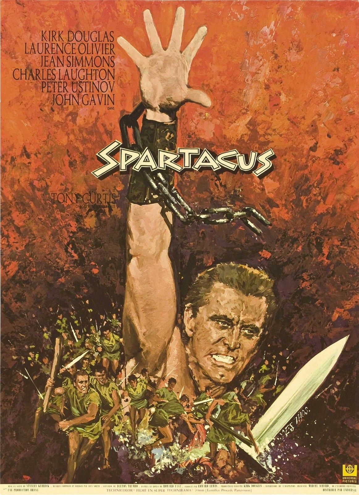 74063-SPARTACUS-1960-Stanley-Kubrick-Lawrence-Olivier-FRAMED-CANVAS-PRINT-Toile