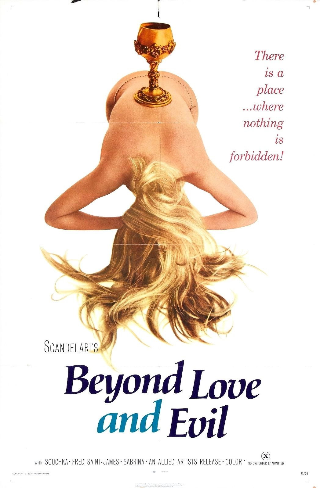 74064-Beyond-Love-and-Evil-Movie-1971-Drama-FRAMED-CANVAS-PRINT-Toile