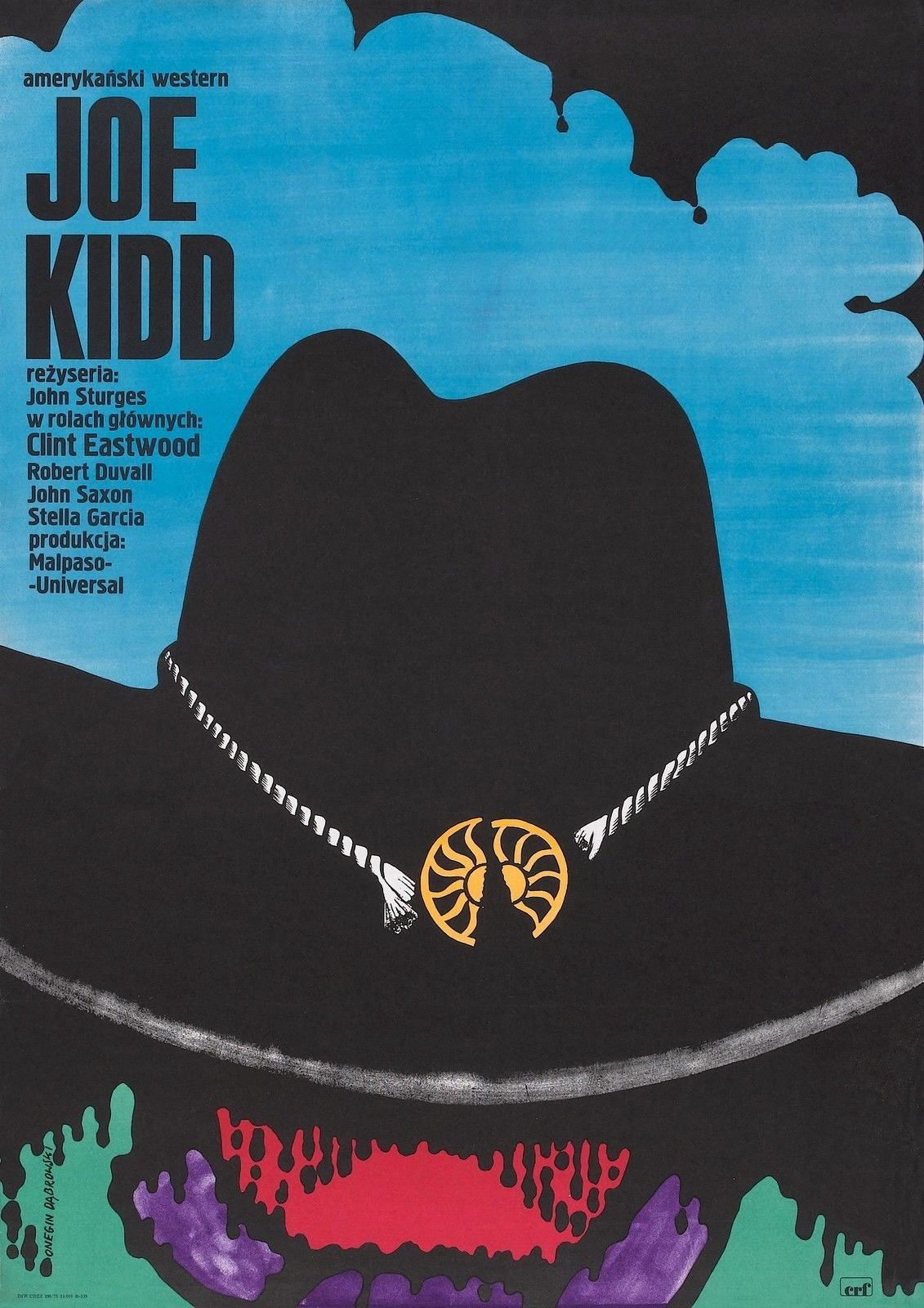 74300-JOE-KIDD-Movie-RARE-Clint-Eastwood-Western-FRAMED-CANVAS-PRINT-Toile