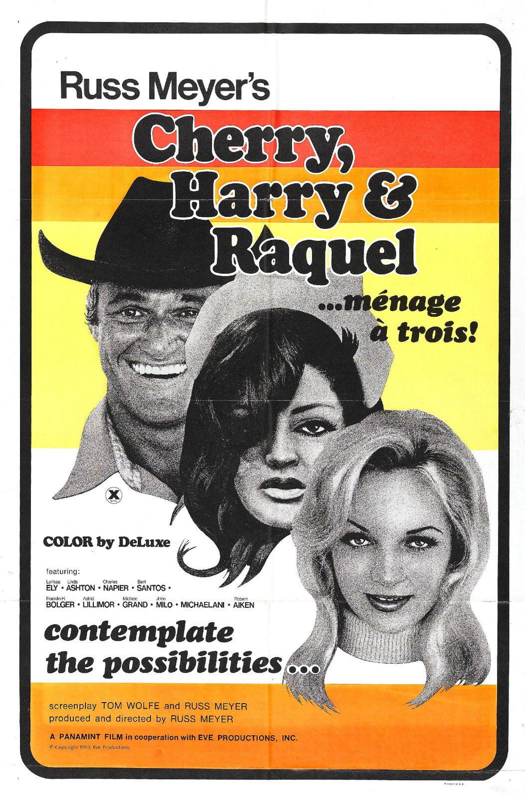 74404-CHERRY-HARRY-amp-RAQUEL-Movie-Russ-Meyer-FRAMED-CANVAS-PRINT-Toile