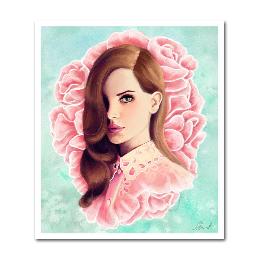 80619-Lana-Del-Rey-Music-Star-FRAMED-CANVAS-PRINT-UK