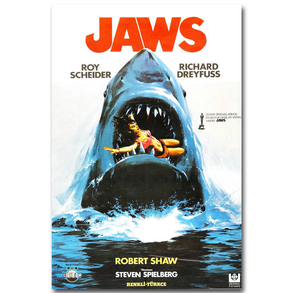 82711 Jaws 1 2 Classic Movie Decor WALL PRINT POSTER CA