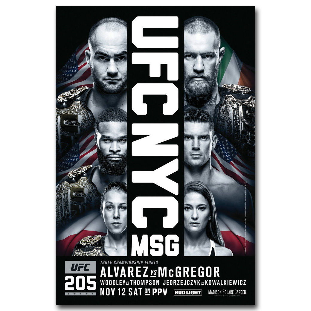 82863-UFC-205-Eddie-Alvarez-vs-Conor-McGregor-Decor-WALL-PRINT-POSTER-AU