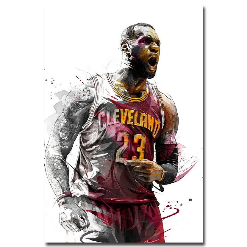 83560 LeBron James Super Basketball Star Decor WALL PRINT POSTER AU