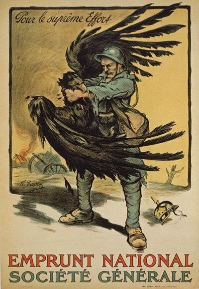 84161 Vintage French Loan German Imperial Eagle Decor WALL PRINT POSTER CA